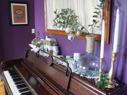 christmas piano side