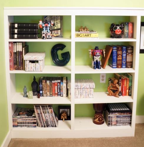office shelf style via a year of strategic serendipity