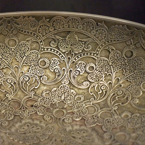 bronze bowl detail