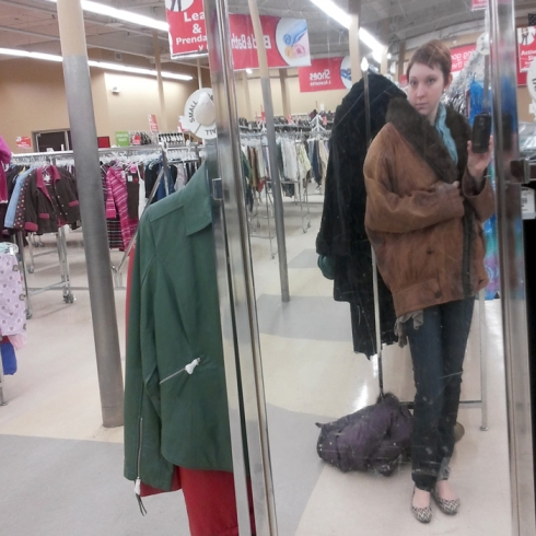 thrift shop ugly jacket