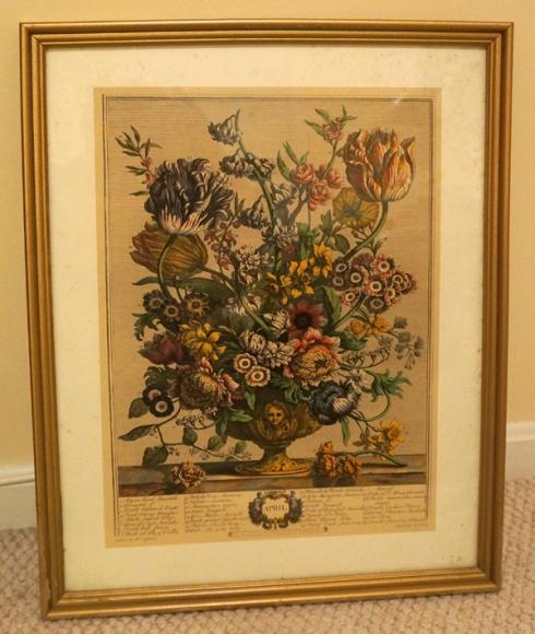 April floral print