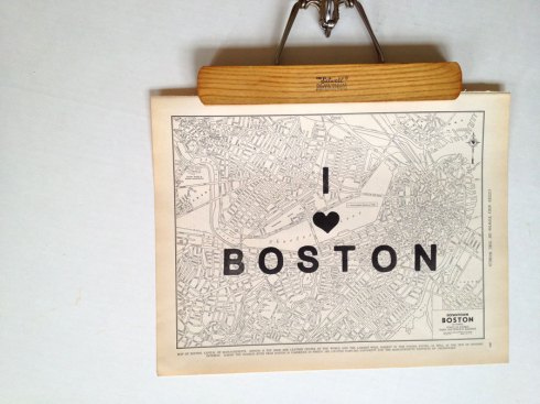 boston map etsy