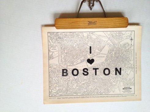 boston map etsy