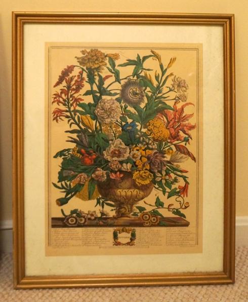 October floral print
