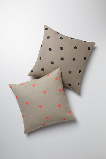 polka dot anthro pillows